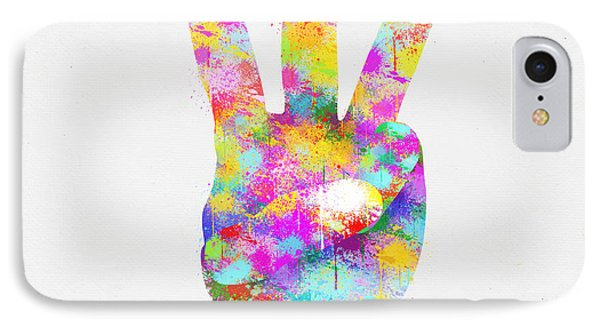 Colorful Painting Of Hand Point Three Finger Phone Case by Setsiri Silapasuwanchai