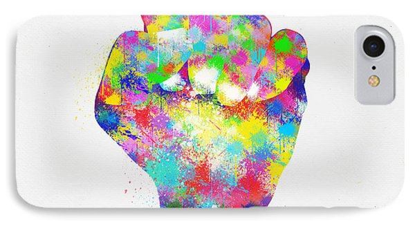 Colorful Painting Of Hand IPhone Case