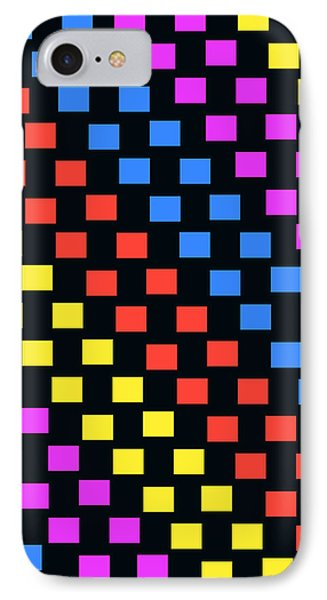Colorful Squares IPhone Case by Louisa Knight