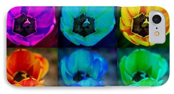 Colorful Tulip Collage Phone Case by James BO  Insogna