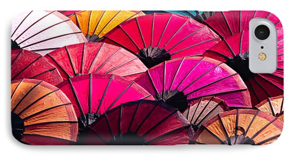 IPhone Case featuring the photograph Colorful Umbrella by Luciano Mortula