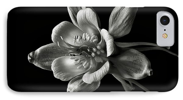 IPhone Case featuring the photograph Columbine In Black And White by Endre Balogh