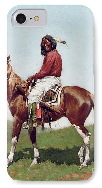 Comanche Brave IPhone Case by Frederic Remington