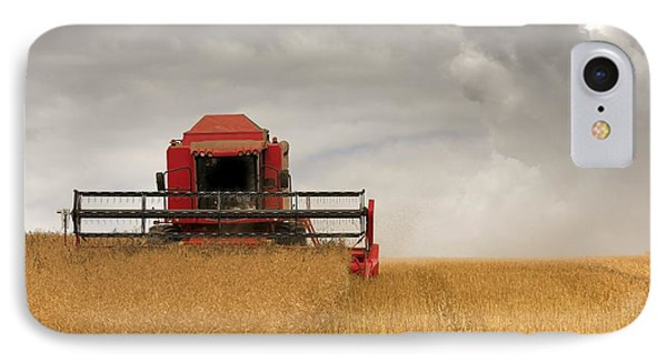 Combine Harvester, North Yorkshire Phone Case by John Short
