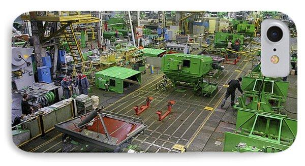 Combine Harvester Production Line Phone Case by Ria Novosti