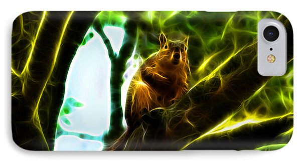 Come On Up - Fractal - Robbie The Squirrel IPhone Case by James Ahn