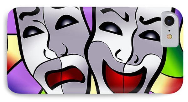 Comedy And Tragedy IPhone Case