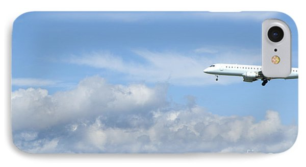 Commercial Airliner Coming In For A Landing Phone Case by Marlene Ford
