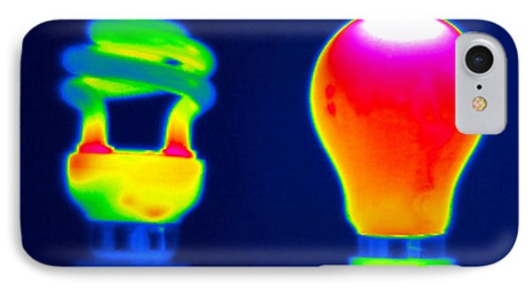 Comparing Light Bulbs, Thermogram IPhone Case by Tony Mcconnell