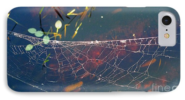 IPhone Case featuring the photograph Complexity Of The Web by Nina Prommer