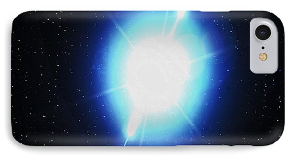Computer Artwork Of A Gamma Ray Burst Phone Case by Greg Baconnasa