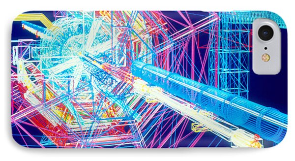 Computer Artwork Of Atlas Detector At Cern IPhone Case by David Parker
