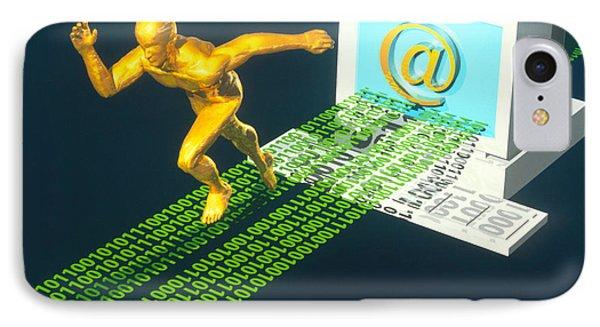 Computer Artwork Of E-mail As A Sprinter Phone Case by Laguna Design