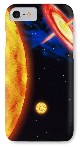 Computer Artwork Of Stages In A Star's Life Phone Case by Victor Habbick Visions