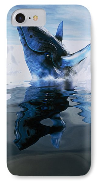 Computer Illustration Of A Humpback Whale Phone Case by Victor Habbick Visions