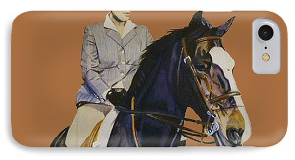 Concentration - Hunter Jumper Horse And Rider IPhone Case