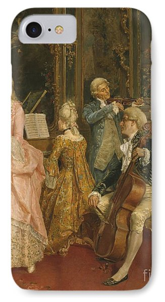 Concert At The Time Of Mozart IPhone Case by Ettore Simonetti