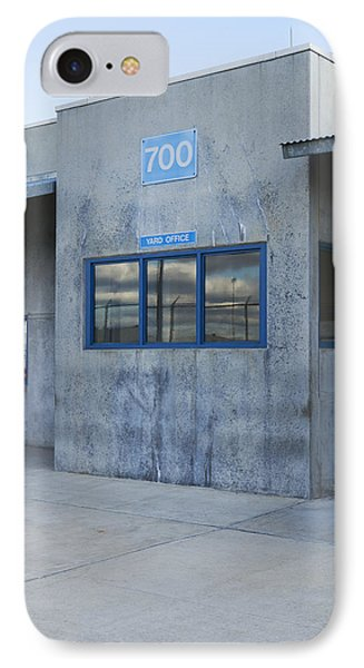 Concrete Building In A Prison Exercise Phone Case by Roberto Westbrook