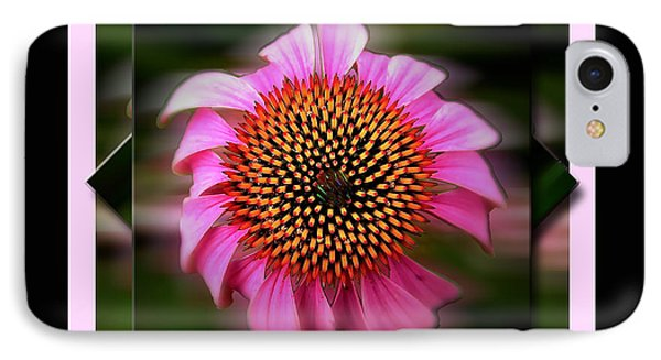 Coneflower Geometric IPhone Case by Sue Stefanowicz