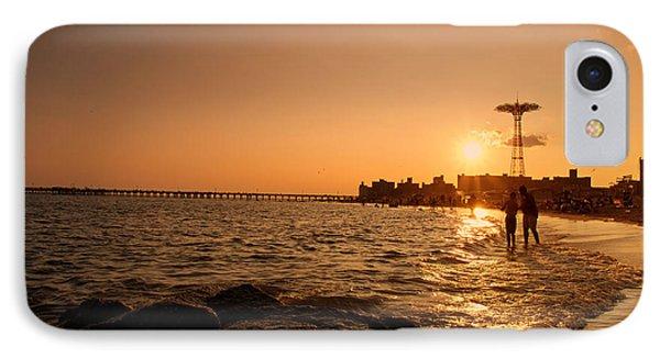Coney Island Beach Sunset - New York City Phone Case by Vivienne Gucwa