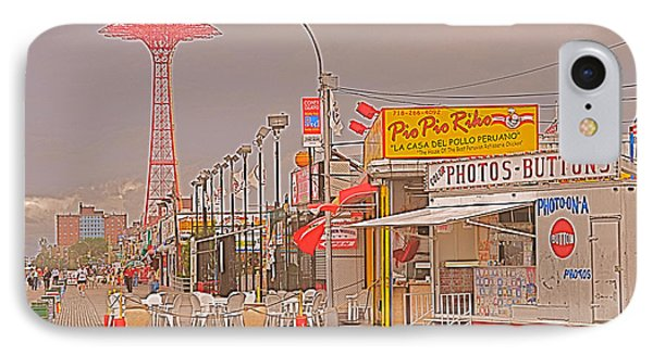 Coney Island Boardwalk IPhone Case by Mark Gilman