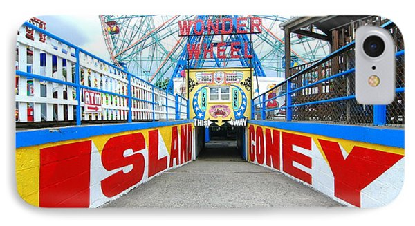 Coney Island Sign IPhone Case by Mark Gilman