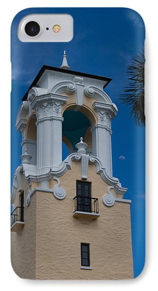 IPhone Case featuring the photograph Congregational Church Tower by Ed Gleichman