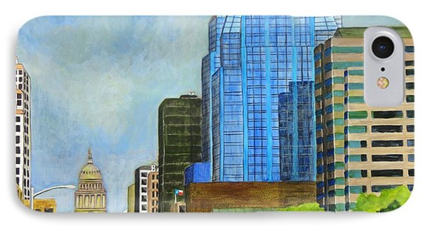 Congress Avenue Austin Texas IPhone Case by Manny Chapa