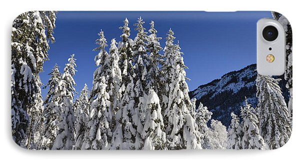 Coniferous Forest In Winter Phone Case by Konrad Wothe