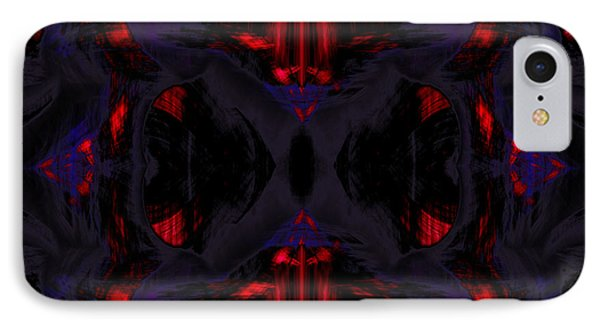 Conjoint - Crimson And Royal. Phone Case by Christopher Gaston