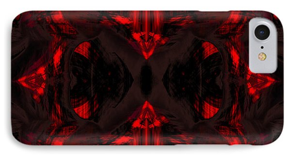 Conjoint - Crimson Phone Case by Christopher Gaston