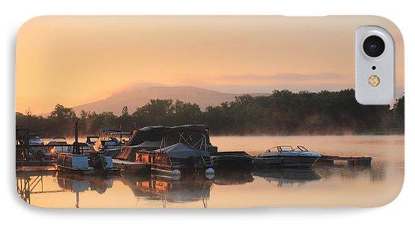 Connecticut River Oxbow Morning Fog Mount Holyoke Phone Case by John Burk