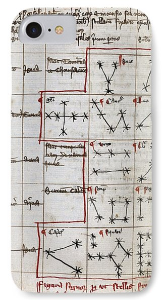 Constellations, 14th Century Manuscript Phone Case by Middle Temple Library
