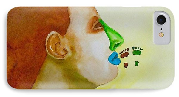 IPhone Case featuring the painting Contemporary Genetics by Sharon Mick