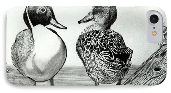 Conversation Between Feathered Friends IPhone Case by Cheryl Poland