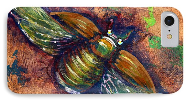 Copper Beetle IPhone Case by Ashley Kujan
