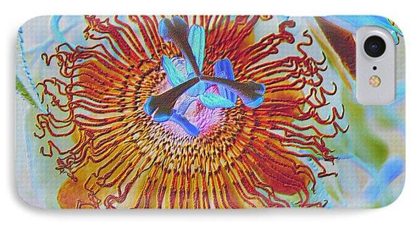 Copper Passionflower Phone Case by Rosalie Scanlon