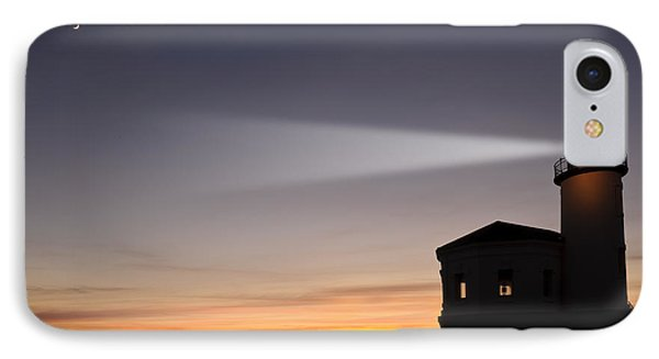 Coquille River Lighthouse Phone Case by John Shaw and Photo Researchers