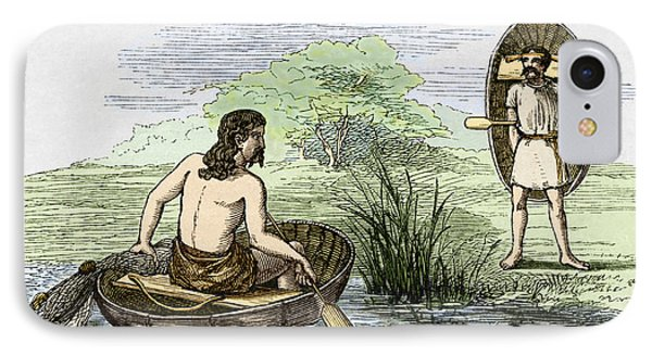 Coracle Boats Of The Ancient Britons Phone Case by Sheila Terry