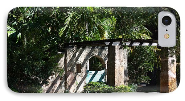 IPhone Case featuring the photograph Coral Gables Gate by Ed Gleichman