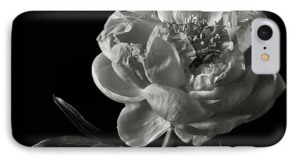 IPhone Case featuring the photograph Coral Peony In Black And White by Endre Balogh