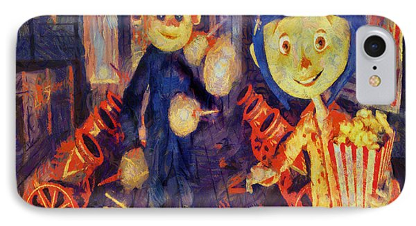 IPhone Case featuring the painting Coraline Circus by Joe Misrasi