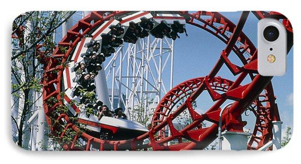 Corkscrew Coil On A Rollercoaster Ride Phone Case by Kaj R. Svensson