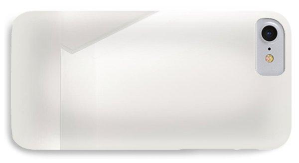 Corner Of A Modern White Wall IPhone Case by Eddy Joaquim