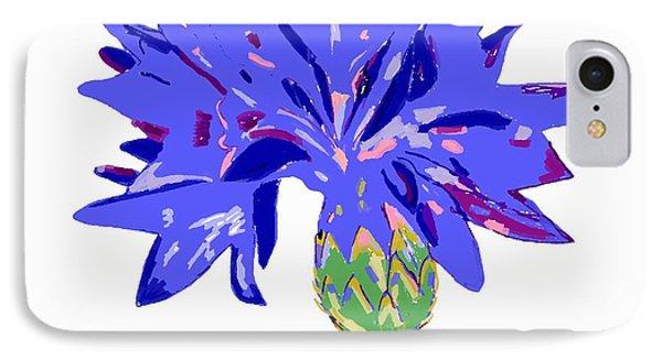 IPhone Case featuring the digital art Cornflower by Barbara Moignard