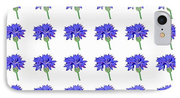 IPhone Case featuring the digital art Cornflowers by Barbara Moignard