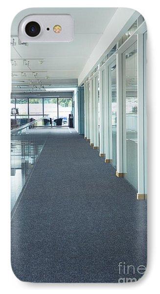 Corridor In A Modern Office Phone Case by Iain Sarjeant