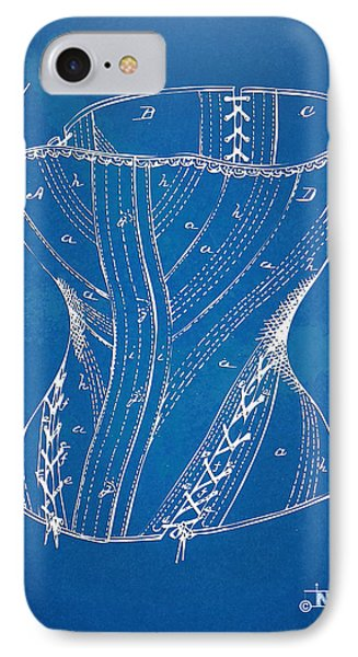 Corset Patent Series 1884 IPhone Case by Nikki Marie Smith
