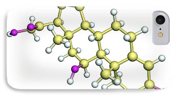 Corticosterone Hormone Molecule Phone Case by Dr Tim Evans