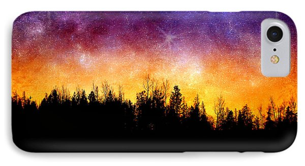 Cosmic Night IPhone Case by Ellen Heaverlo